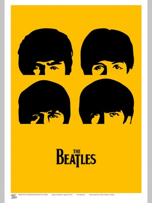 MUSIC (A3 Framed Print) - The Beatles - £25