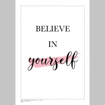 INSPIRATION (A3 Framed Print) - Believe - Pink