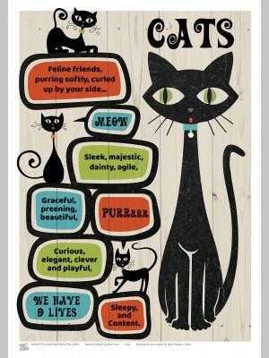 PETS (A3 Framed Print) - Cats - £25