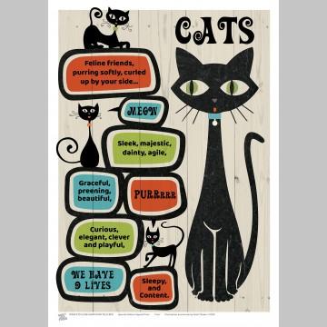 PETS (A3 Framed Print) - Cats