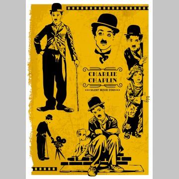 FILM (A3 Framed Print) - Charlie Chaplin