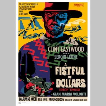 FILM (A3 Framed Print) - Clint Eastwood - English & Italian Versions