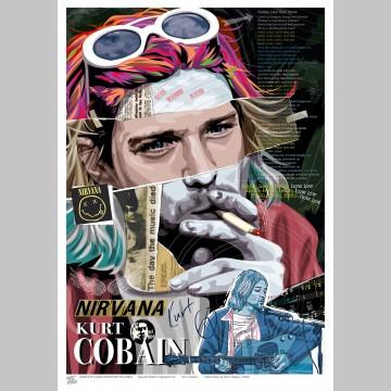 MUSIC (A3 Framed Print) - Kurt Cobain