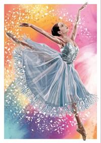 DANCE (A3 Framed Print) - Ballerina - Colour