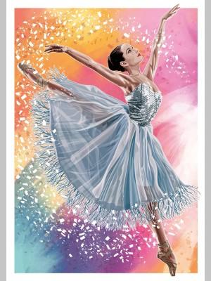 DANCE (A3 Framed Print) - Ballerina - Colour - £25