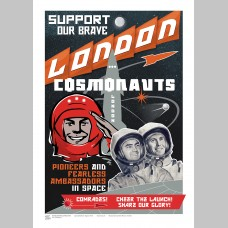 TOWNS (A3 Framed Print) - London Cosmonauts