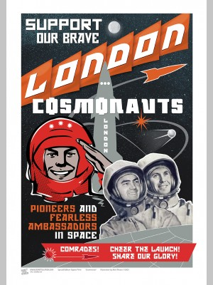 TOWNS (A3 Framed Print) - London Cosmonauts - £25