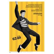 MUSIC (A3 Framed Print) - Elvis - Yellow