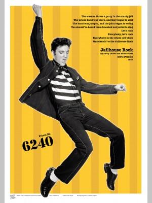 MUSIC (A3 Framed Print) - Elvis - Yellow - £25