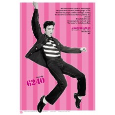 MUSIC (A3 Framed Print) - Elvis - Pink