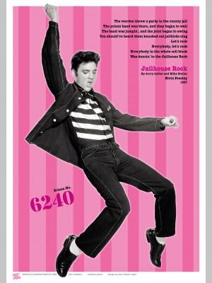 MUSIC (A3 Framed Print) - Elvis - Pink - £25