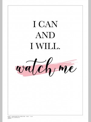 QUOTE (A3 Framed Print) - I Can - £25