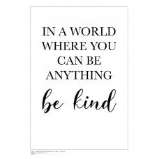 INSPIRATION (A3 Framed Print) - Be Kind - White