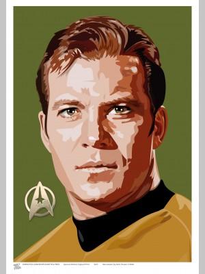 STAR TREK (A3 Framed Print) - Captain Kirk - £25