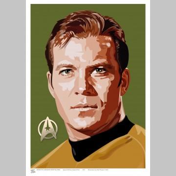 STAR TREK (A3 Framed Print) - Captain Kirk