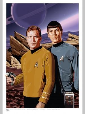 STAR TREK (A3 Framed Print) - Kirk & Spock - £25