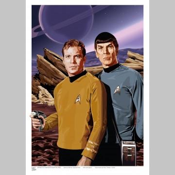 STAR TREK (A3 Framed Print) - Kirk & Spock
