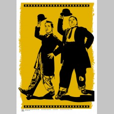 FILM (A3 Framed Print) - Laurel & Hardy