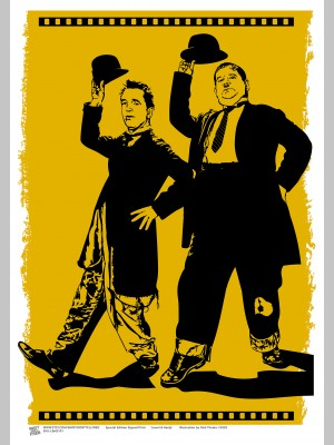 FILM (A3 Framed Print) - Laurel & Hardy - £25