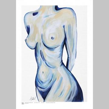 ARTIST (A3 Framed Print) - Leah Bedford - Blue Nude