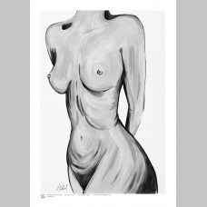 ARTIST (A3 Framed Print) - Leah Bedford - Black and White Nude