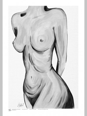 ARTIST (A3 Framed Print) - Leah Bedford - Black and White Nude - £25