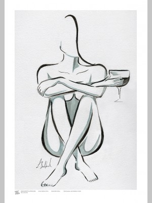 ARTIST (A3 Framed Print) - Leah Bedford - Nude With Glass - £25