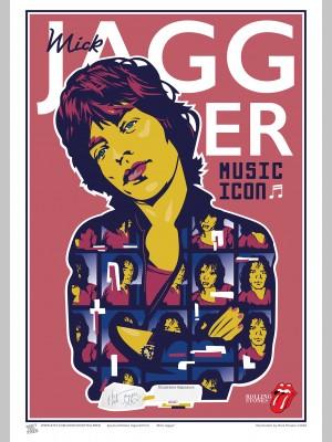 MUSIC (A3 Framed Print) - Mick Jagger - £25