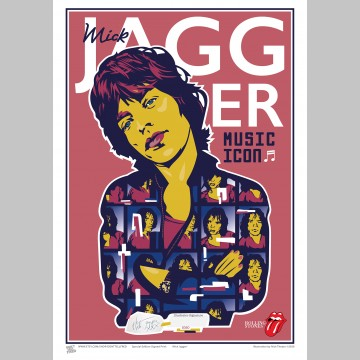 MUSIC (A3 Framed Print) - Mick Jagger