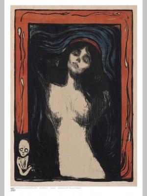 ARTIST (A3 Framed Print) - Edvard Munch - Madonna - £25