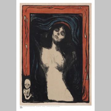 ARTIST (A3 Framed Print) - Edvard Munch - Madonna
