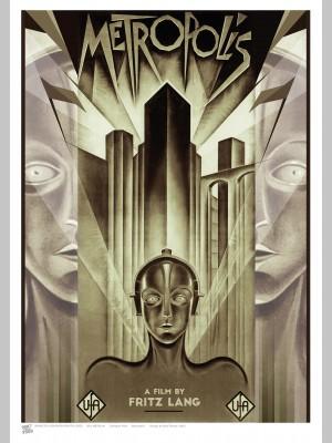 FILM (A3 Framed Print) - Metropolis - £25