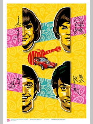 MUSIC (A3 Framed Print) - The Monkees - £25
