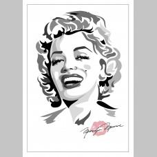FILM (A3 Framed Print) - Marilyn Monroe - Black/White/Pink