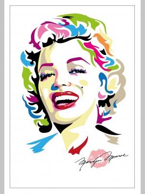 FILM (A3 Framed Print) - Marilyn Monroe - Colour - £25