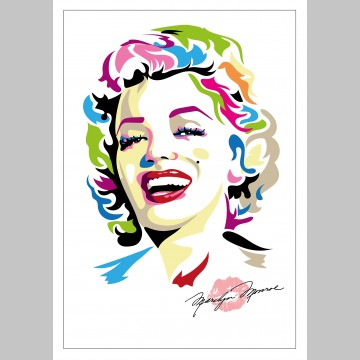 FILM (A3 Framed Print) - Marilyn Monroe - Colour