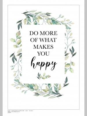 QUOTE (A3 Framed Print) - Do More - Leaves - £25