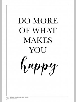 QUOTE (A3 Framed Print) - Do More - White - £25