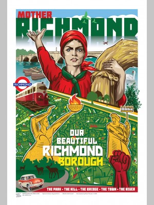 TOWNS (A3 Framed Print) - Mother Richmond - £25