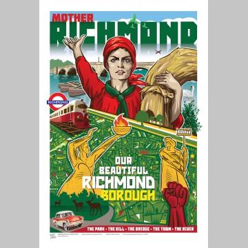 TOWNS (A3 Framed Print) - Mother Richmond