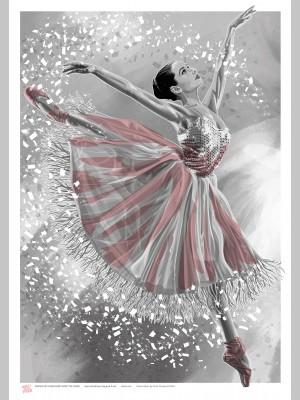 DANCE (A3 Framed Print) - Ballerina - Pink - £25