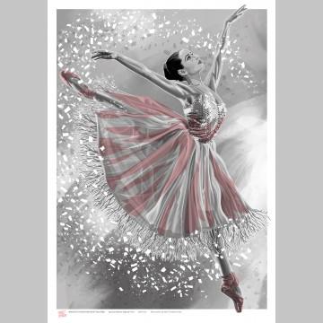 DANCE (A3 Framed Print) - Ballerina - Pink