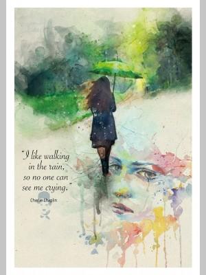 QUOTE (A3 Framed Print) - Rain - £25