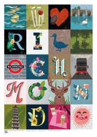 TOWNS (A3 Framed Print) - Richmond Squares