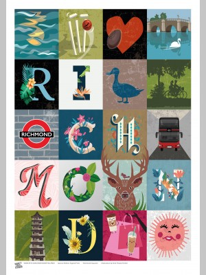 TOWNS (A3 Framed Print) - Richmond Squares - £25