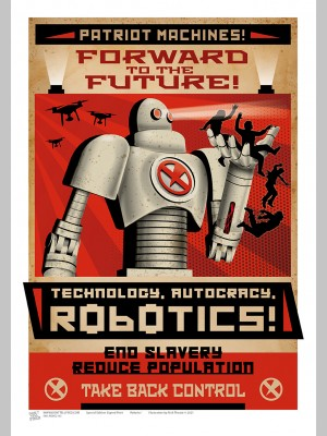 SCI-FI (A3 Framed Print) - Robotics! - £25
