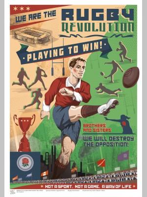 SPORT (A3 Framed Print) - Rugby Revolution - £25