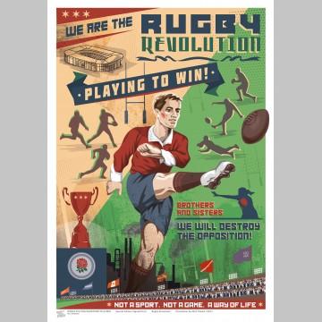 SPORT (A3 Framed Print) - Rugby Revolution