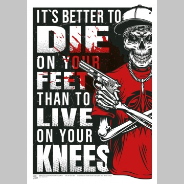 QUOTE (A3 Framed Print) - Die On Your Feet