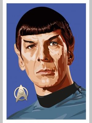 STAR TREK (A3 Framed Print) - Spock - £25